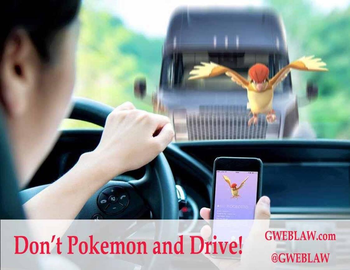 Pokemon Go – Don't Pokemon and Drive!